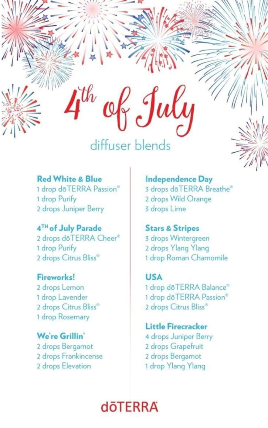 4th of July Essential Oil Diffuser Blends